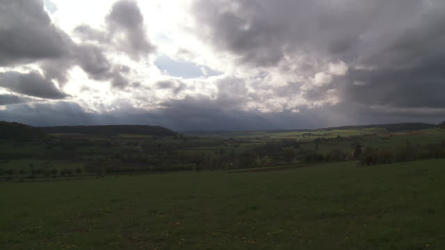 ws t/l view of overcast on green landscape / bruxelles, bruxelles, belgium - overcast bildbanksvideor och videomaterial från bakom kulisserna