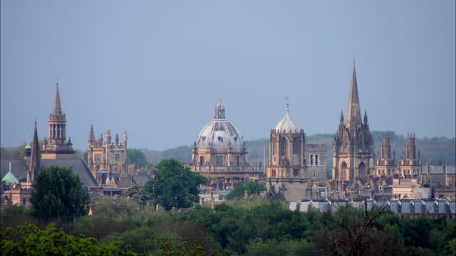 ws view of oxford university and christchurch cathedral / united kingdom - oxford england stock videos & royalty-free footage