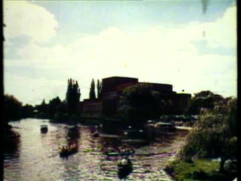 1953 ws pan view of oxford university / london, uk / audio - 1953 stock videos & royalty-free footage