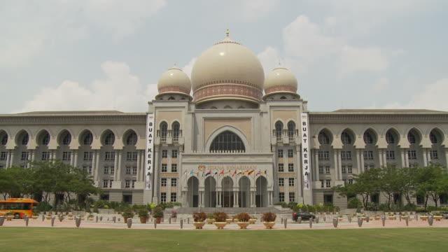 view of palace of justice in putrajaya, malaysia - putrajaya stock videos & royalty-free footage