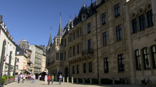 ms view of palais grand ducal / luxembourg-city, luxembourg - luxembourg benelux stock videos & royalty-free footage