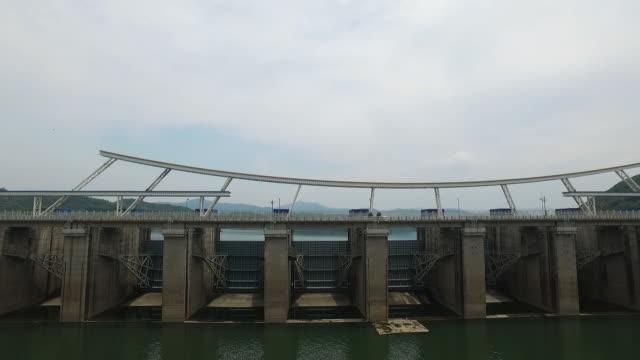View of Paldangdam (A dam on the Han river) in Hanam, Gyeonggi-do