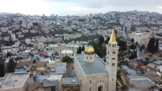 ベツレヘム、パレスチナからのパレスチナの風景と家の眺め - 聖地パレスチナ点の映像素材/bロール