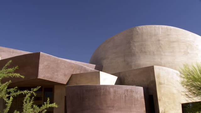vidéos et rushes de ws zo view of palm desert henderson community center / palm desert, california, usa  - centre culturel