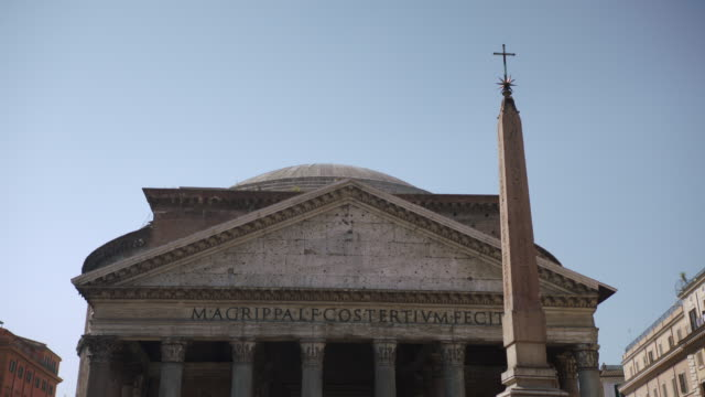 ms view of pantheon roman temple / rome, italy - pantheon rome stock videos and b-roll footage