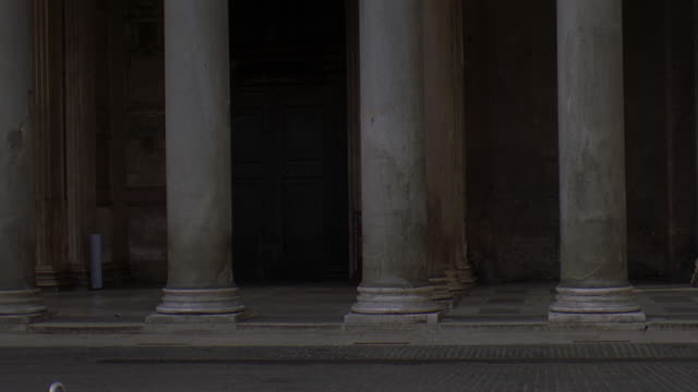 ms tu td view of pantheon rome / rome, italy - 50 seconds or greater stock videos & royalty-free footage