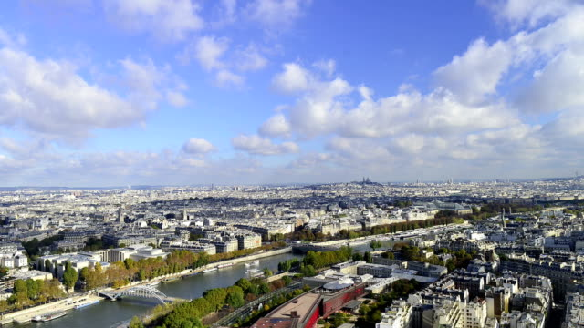 HD: View of Paris from Eiffel Tower