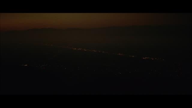 aerial view of paris lights / paris, france - 1957年点の映像素材/bロール