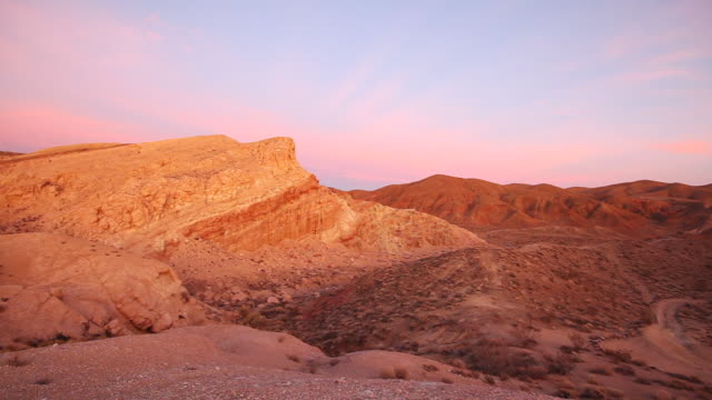 cu zo view of park at sun set / red rock canyon state park, ca, united states - red rocks stock videos and b-roll footage