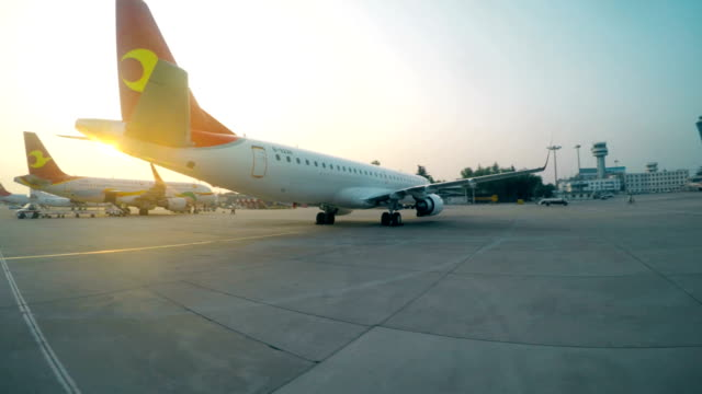 view of parking apron,xi'an,china. - ticket stock videos & royalty-free footage