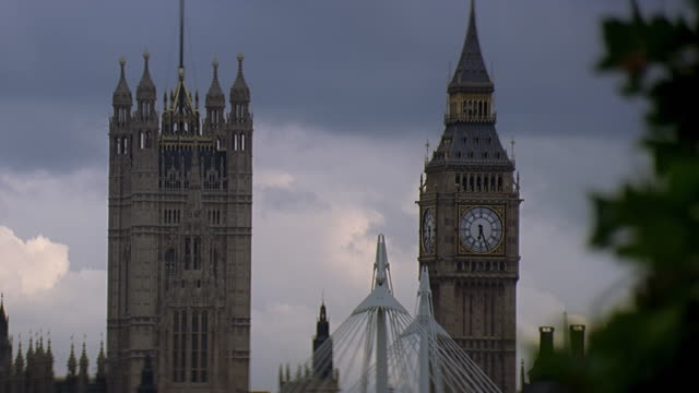 ms view of parliament building and big ben / london, uk - british culture stock videos & royalty-free footage