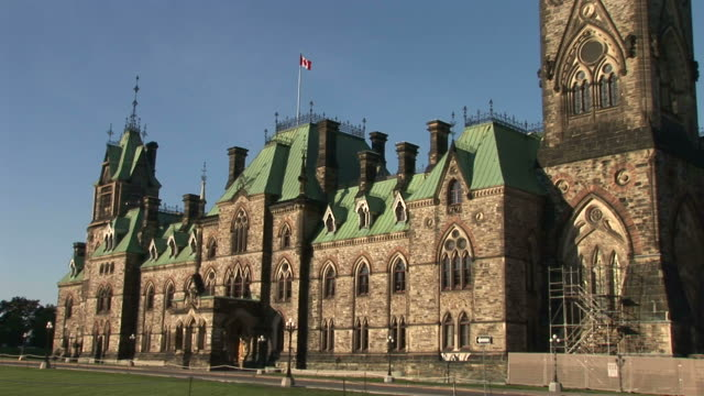 view of parliament hill in ottawa canada - parliament hill ottawa stock videos and b-roll footage