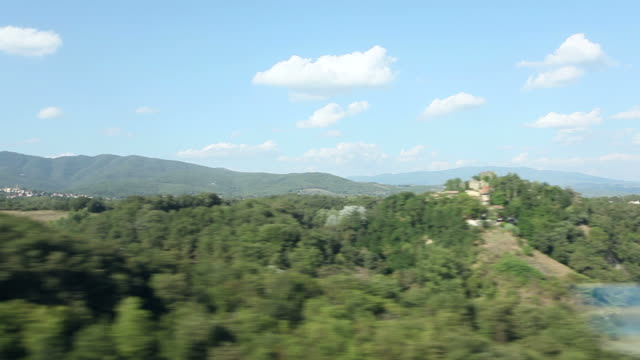 View of passing landscape