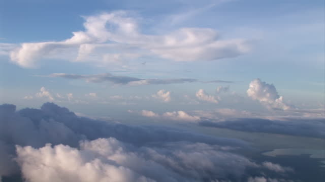 WS AERIAL ZI View of passing through cloudscape / Sydney, New South Wales, Australia