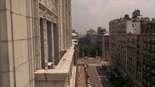 Ws View Of Paterno Apartment Balcony And Street Below New York City United States Stock Footage Video Getty Images