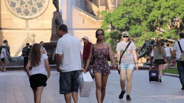 WS T/L View of Pedestrian in city / Sydney, CBD New South Wales, Australia