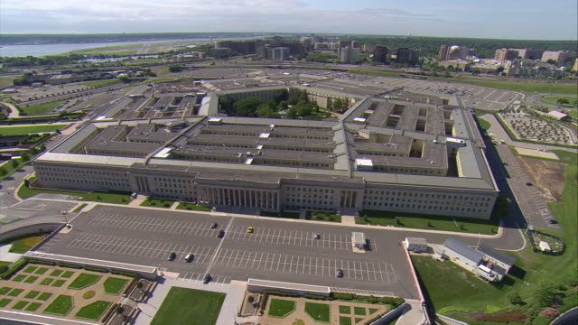 WS AERIAL DS View of Pentagon / Washington, Dist. of Columbia, United States