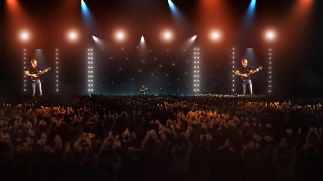 WS ZI ZO View of People at big concert / Bergen, Hordaland, Norway