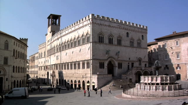 view of perugia city center - italy stock videos & royalty-free footage