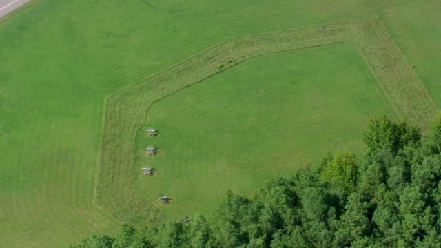 ws aerial zi view of petersburg national battlefield / virginia, united states - cinque oggetti video stock e b–roll