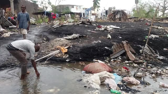 vidéos et rushes de a view of petit goave after hurricane matthew devastated the area in haiti on october 6 2016 some 339 people were killed in haiti local officials... - catastrophe naturelle