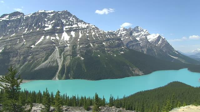 WS PAN View of Peyto Lake / Banff Nationalpark, Alberta, Canada