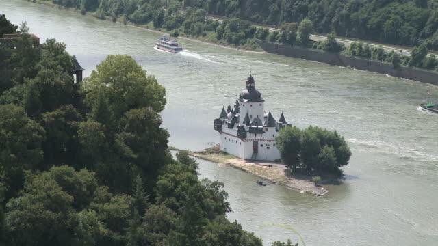 WS View of Pfalzgrafenstein Castle near Kaub  / Rhine-Valley, Rhineland-Palatinate, Germany