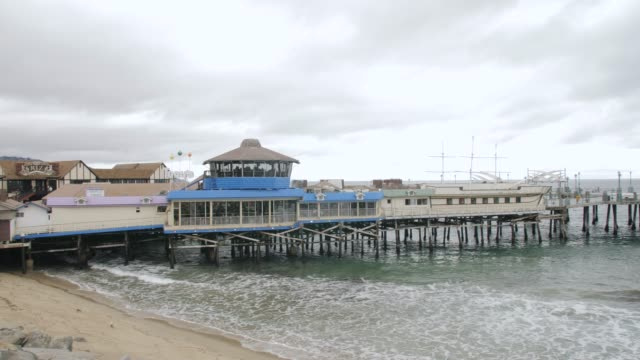 View of Pier and sea front at Redondo Beach, Los Angeles, LA, California, United States of America, North America