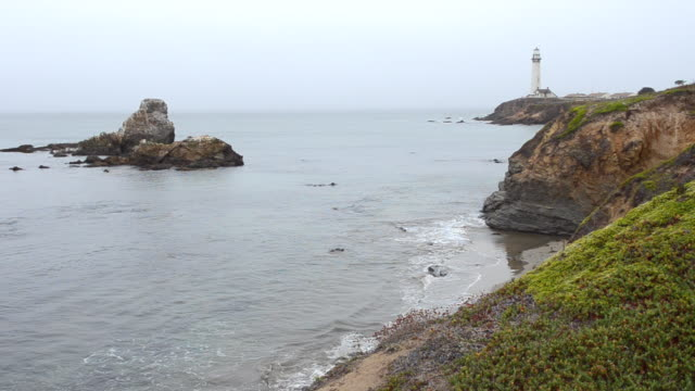 WS View of Pigeon Point Light Station on Pacific Coast Highway near Half Moon Bay / Pacific Coast Highway, California, United States