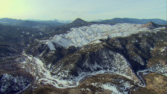 WS PAN AERIAL View of Pike National Forest called 'The Big Burn', which was burned in forest fire / Denver, Colorado, USA