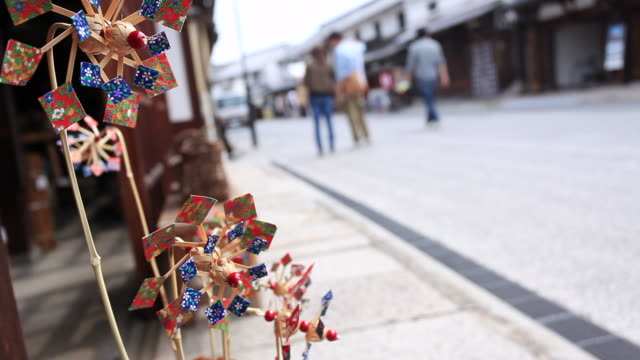 vidéos et rushes de ms view of pinwheel / kurashiki, okayama, japan - art et artisanat