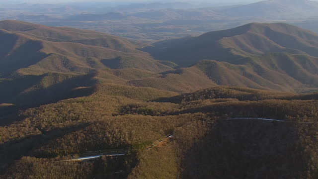 WS AERIAL View of Pisgah National Forest in mountain / North Carolina, United States