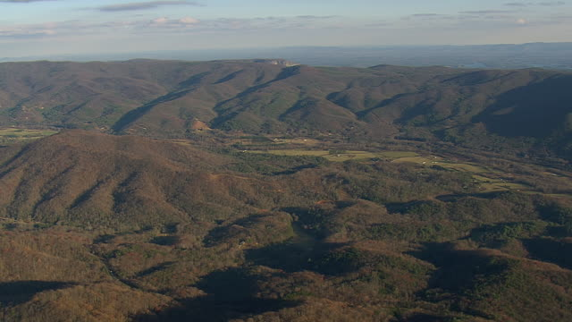 WS AERIAL View of Pisgah National Forest / North Carolina, United States