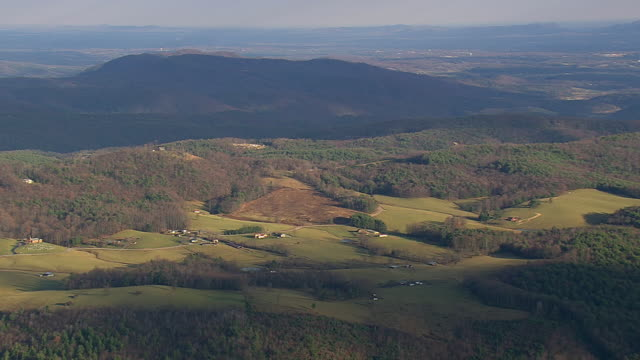 WS AERIAL View of Pisgah National Forest with mountain/ North Carolina, United States