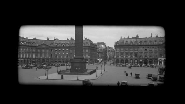 stockvideo's en b-roll-footage met ms pan view of place vendome & rue de la paix / paris, france - colonne vendome