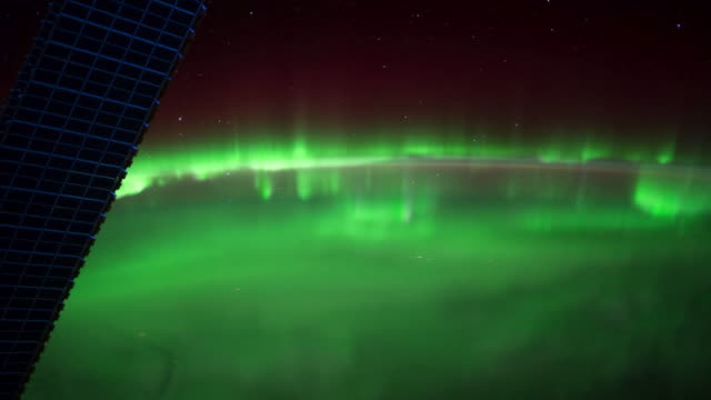 ISS View of Planet Earth: Aurora Borealis Over the Canadian Great Lakes
