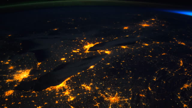 view of planet earth from space, point of view from the international space station (iss) - 人工衛星点の映像素材/bロール