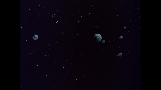 vidéos et rushes de ws view of planets and stars at space / united states - astronomie