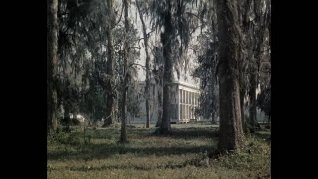 view of plantation house and grounds, usa - ミズーリ州 セントルイス点の映像素材/bロール