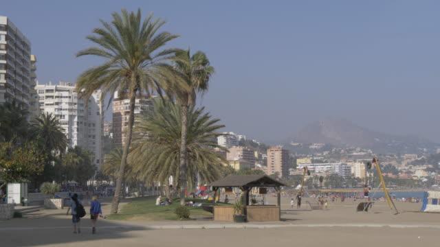 View of Playa de la Caleta beach, Malaga, Andalucia, Spain, Europe