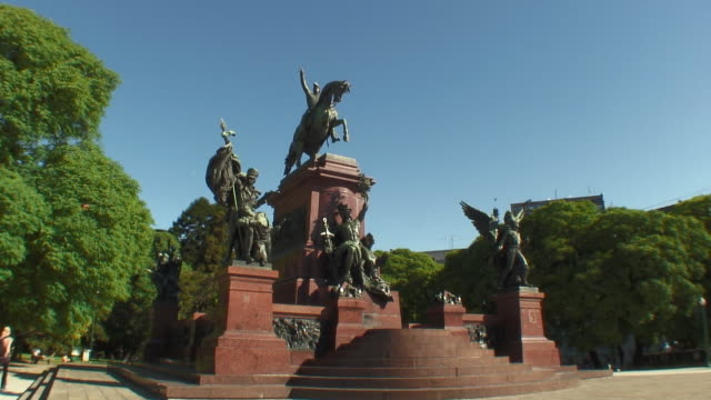 ws view of plaza san martin / buenos aires, argentina - male likeness stock videos & royalty-free footage