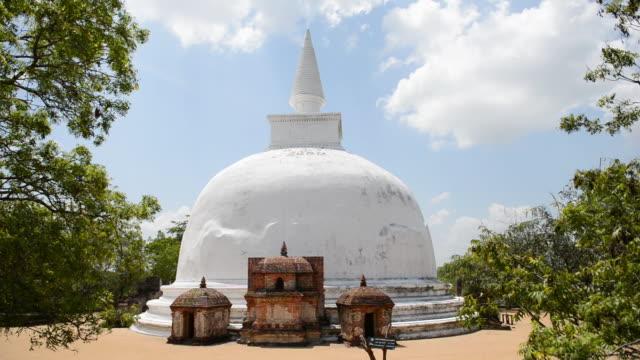 ws view of polonnaruwa temple, polonnaruwa, sri lanka / polonnaruwa, north central province, sri lanka  - sri lankan culture stock videos & royalty-free footage