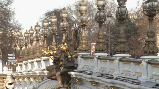 ms view of pont alexandre iii / paris, ile de france, france - ile de france stock videos and b-roll footage