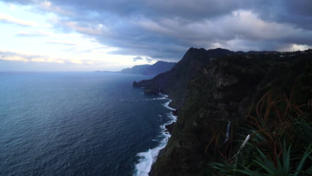 view of ponta do clerigo in madeira island - madeira stock videos and b-roll footage