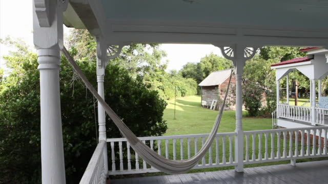 WS View of porch with hammock / Norristown, Georgia, USA