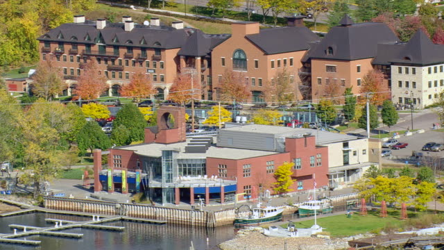 WS ARIEAL View of port / Vermont, United States