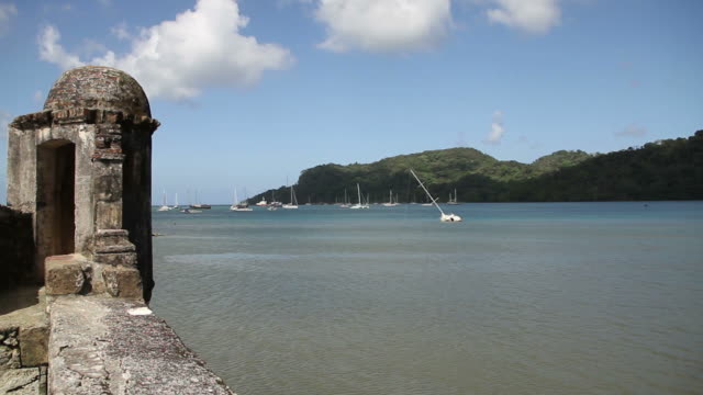 view of portobelo near the port - bay of water stock videos & royalty-free footage