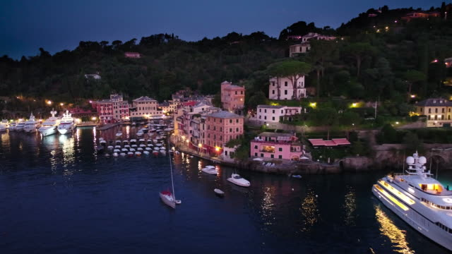 view of portofino - liguria stock videos & royalty-free footage