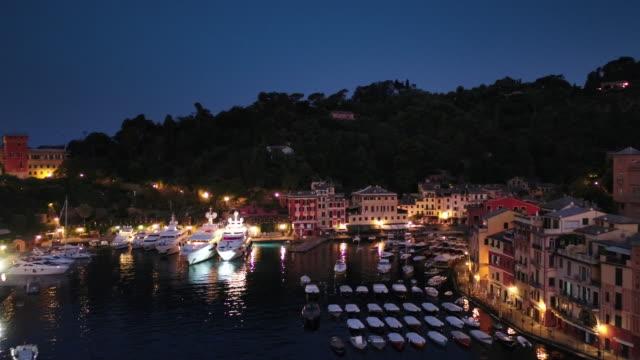 view of portofino - mediterranean sea stock videos and b-roll footage