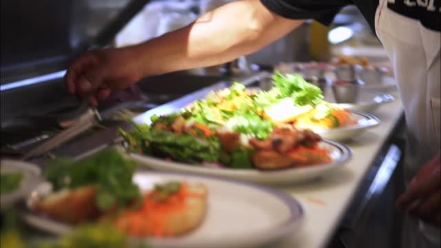 view of preparing salmon steak - salmon steak stock videos & royalty-free footage